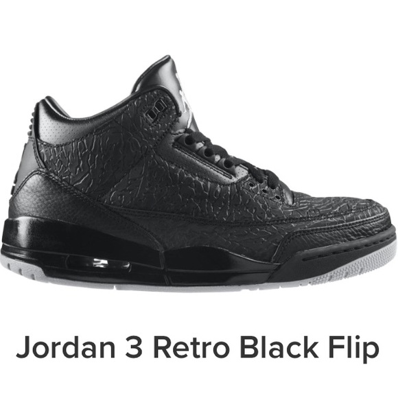 bf77e3d6d43fc2 Jordan Other - Jordan 3 Retro Black Flip Shoes